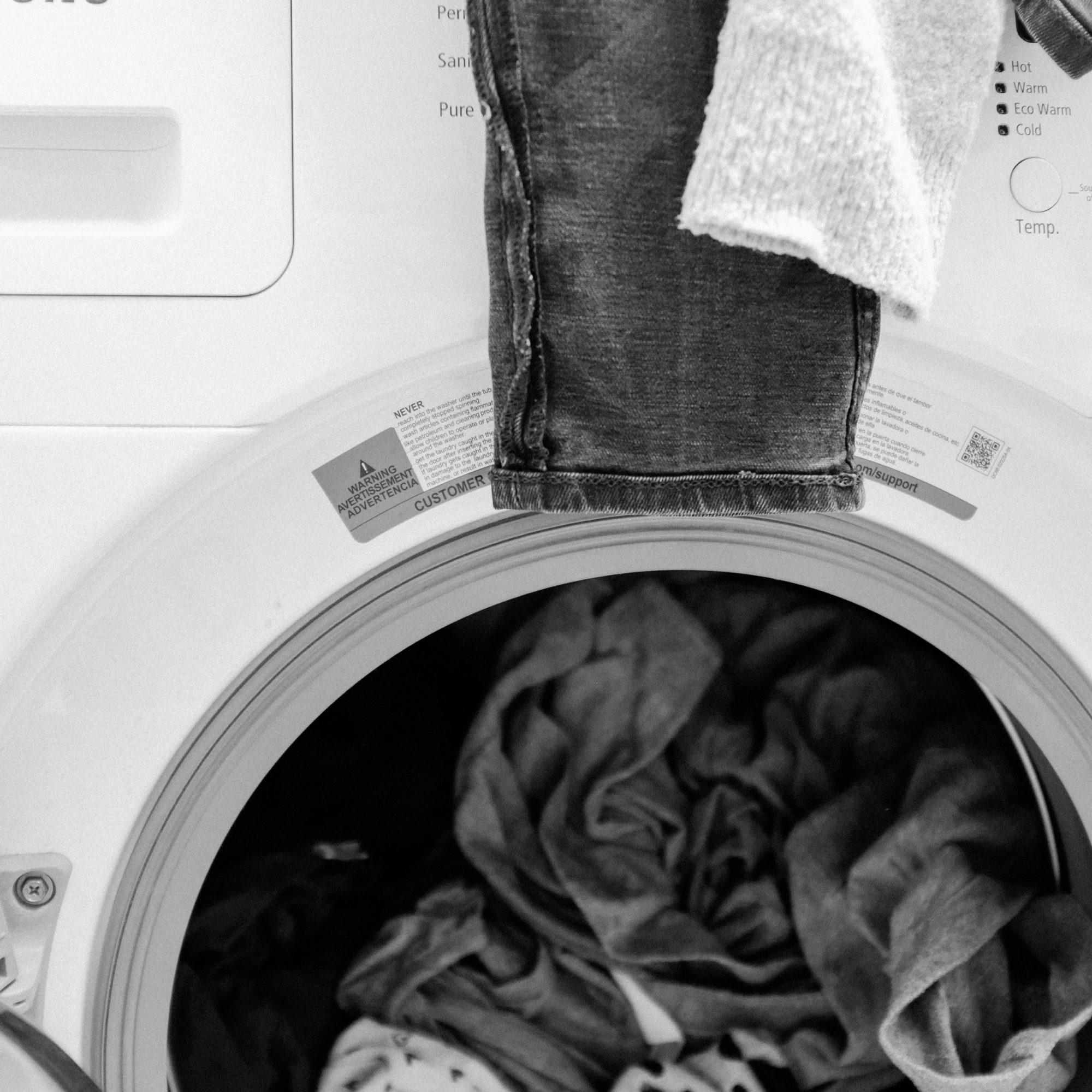 Pyykkikorin pohjalla