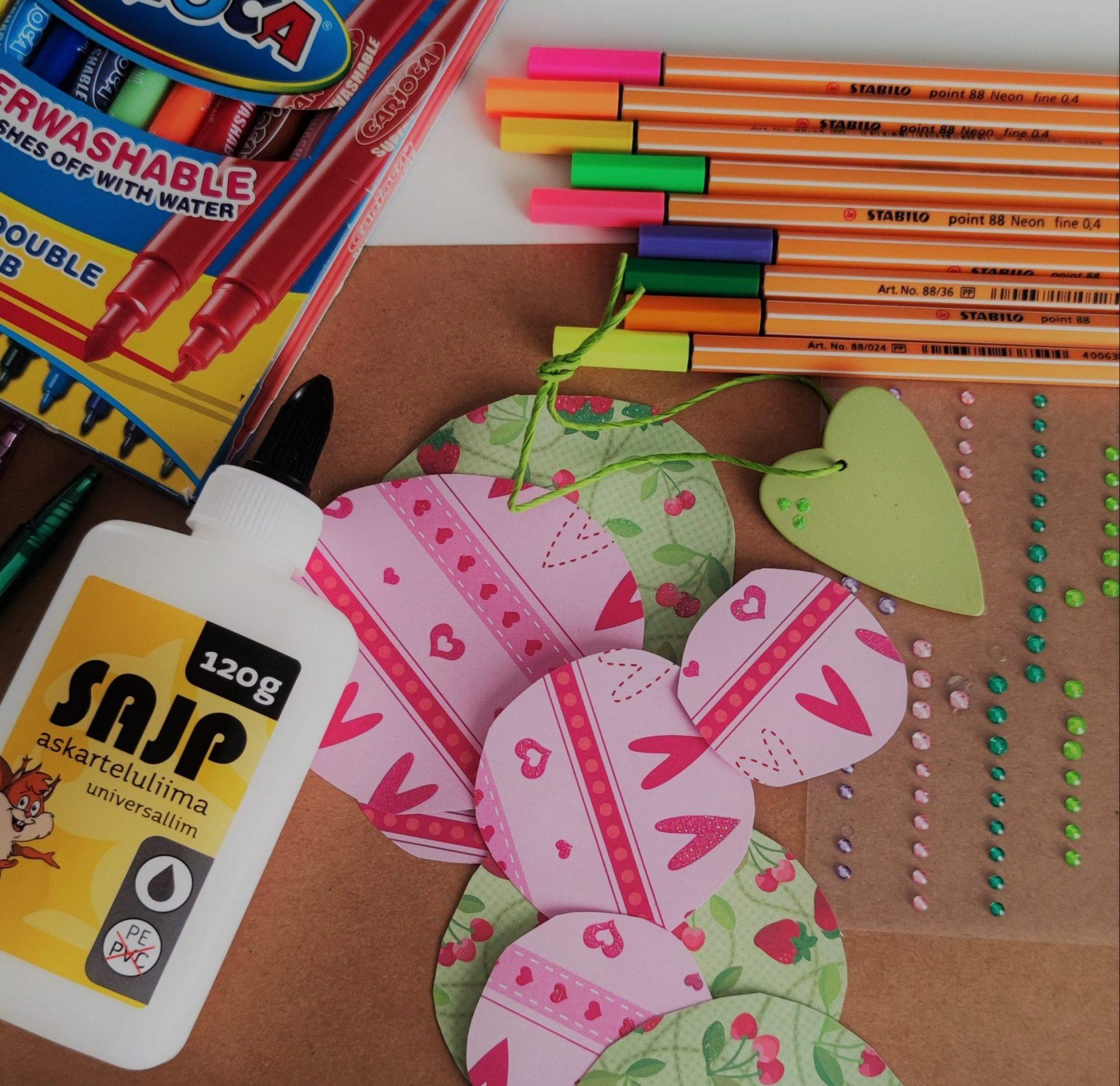 Helpot ystävänpäivä-askartelut à la 3-vuotias