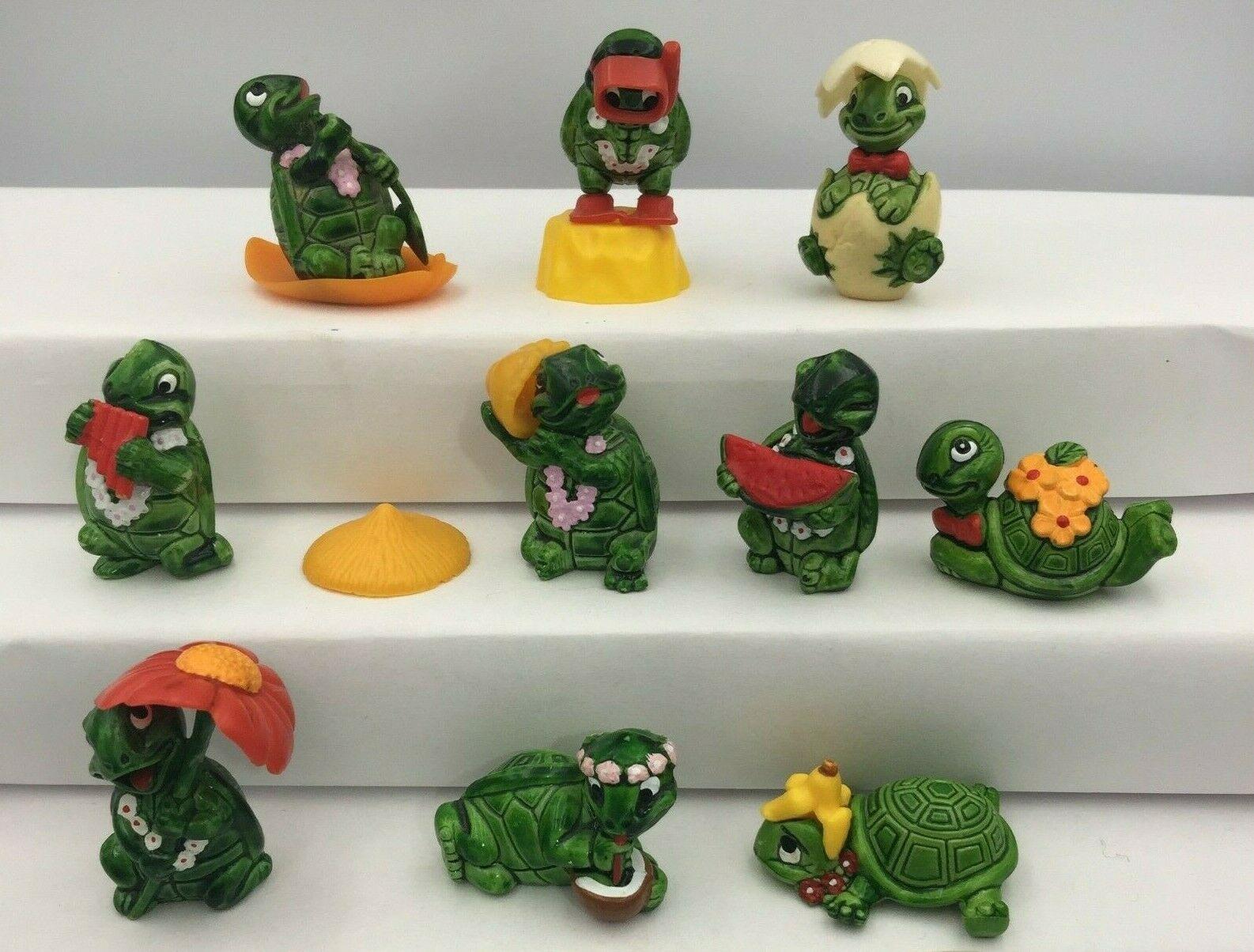 Kinder-lelut ovat muuttuneet vuosien varrella. Kilpikonnat, krokotiilit ja virtahevot ihastuttivat monia