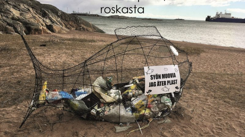 Masa-muovipussin ensimmäinen merimatka
