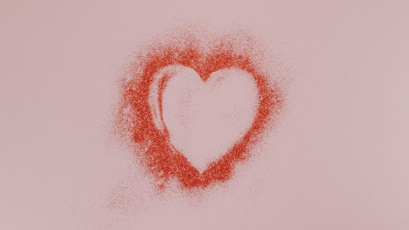 red and white heart shape illustration