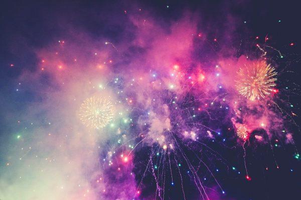 multicolored fireworks
